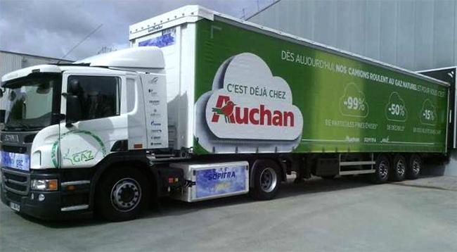 Camions GNL � Auchan annonce les premiers r�sultats de son exp�rimentation