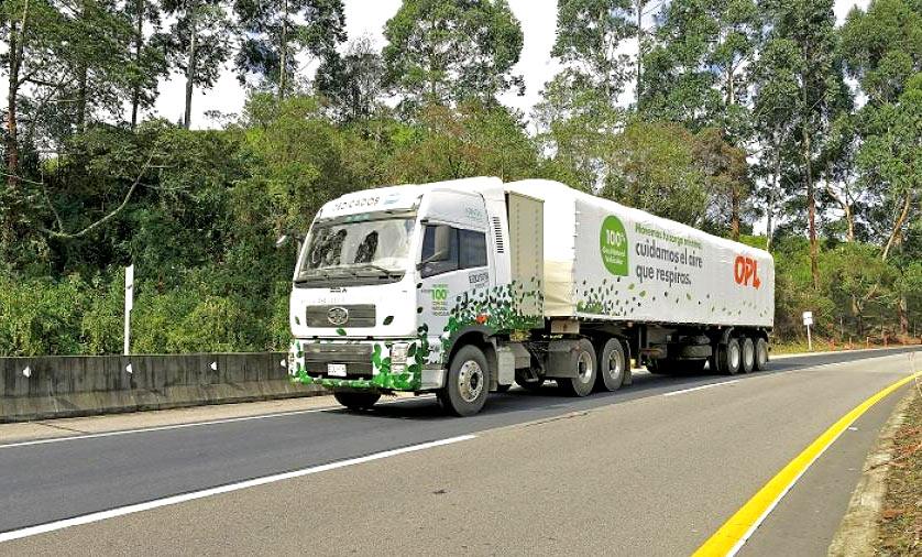 Colombie : des camions au gaz testés sur 50.000 kilomètres