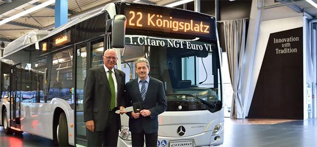 Bus GNV : la ville allemande d'Ausbourg reçoit son premier Citaro NGT