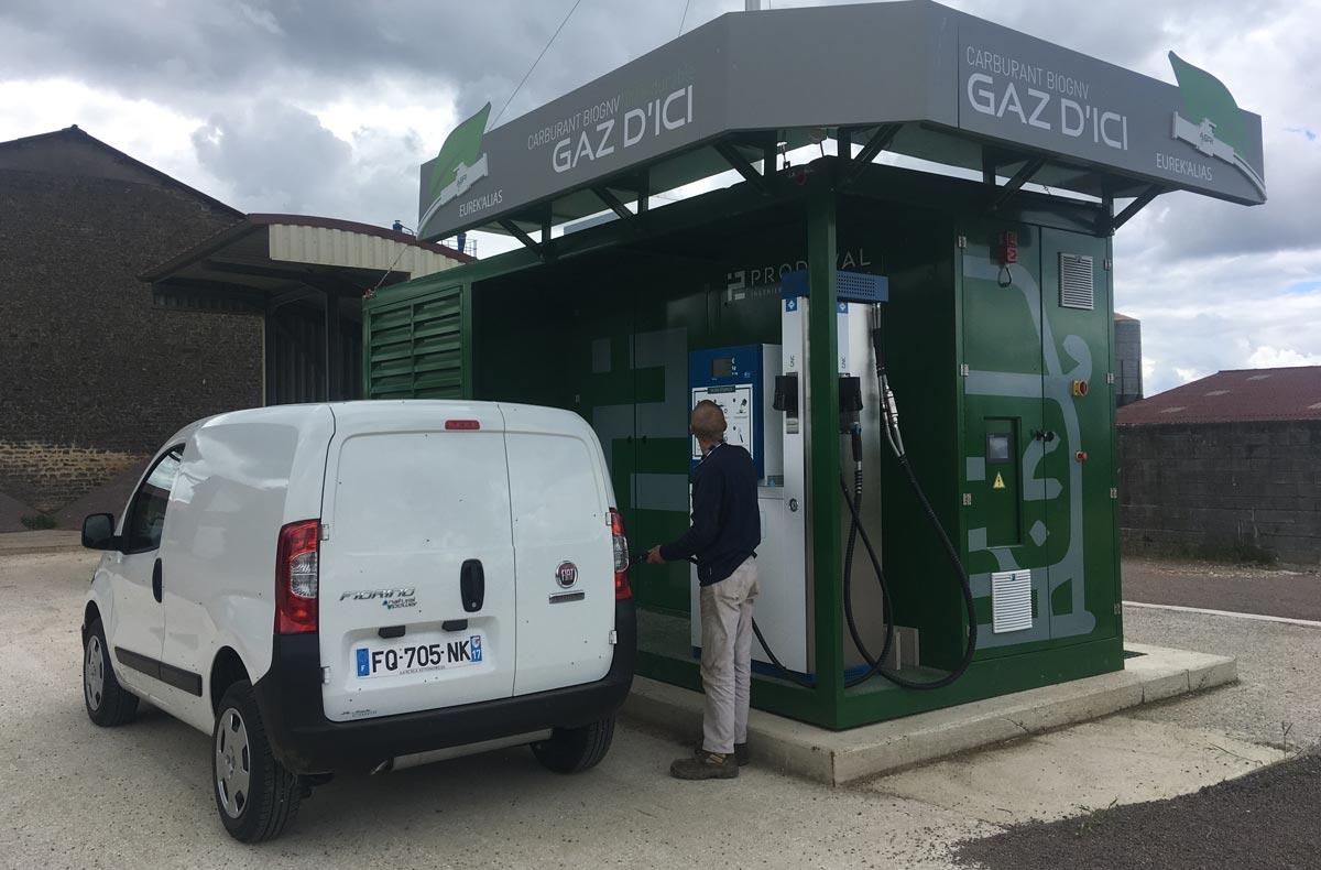 Haute-Marne : Le plein de bioGNV en direct d'un méthaniseur agricole