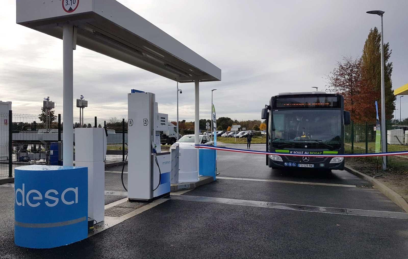 Endesa ouvre une nouvelle station GNV dans les Landes