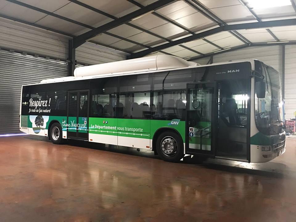 L'autocar GNV en test dans le Vaucluse avec GRDF