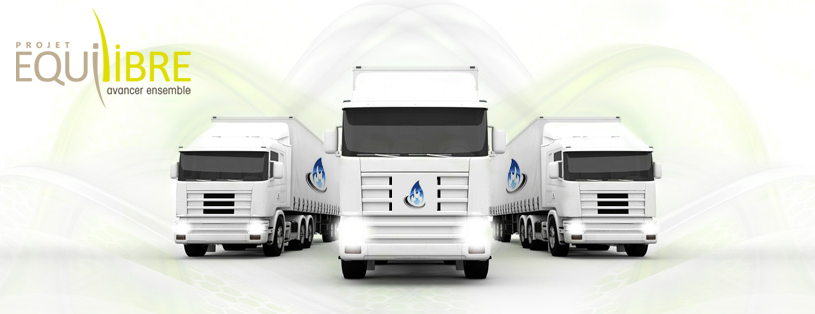 Equilibre � L�exp�rimentation des camions GNV officiellement lanc�e