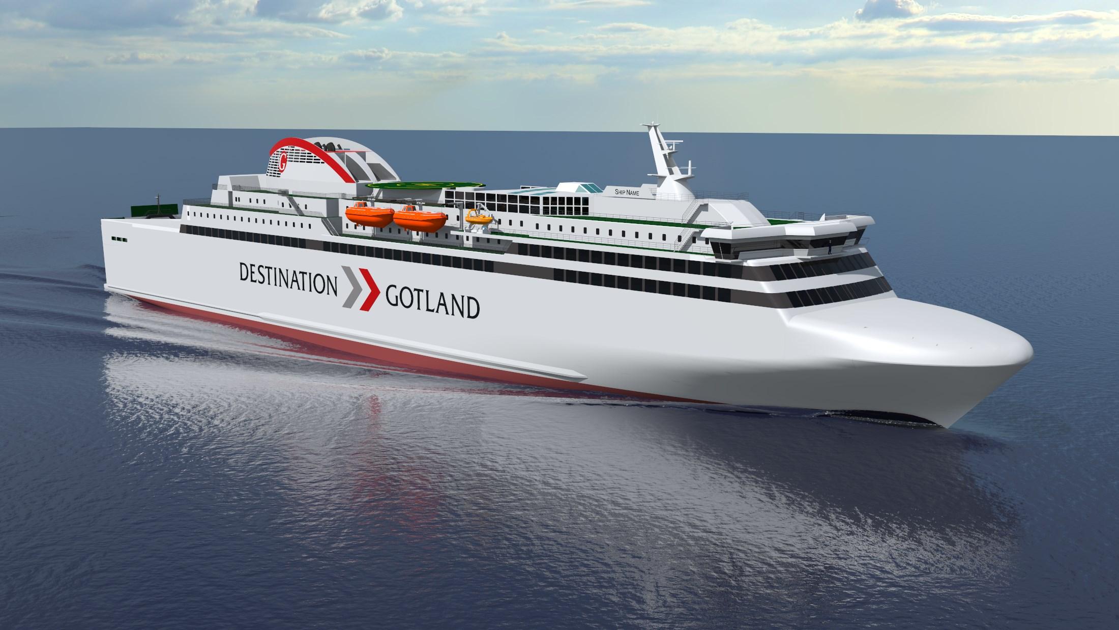 Un deuxième ferry GNL pour Destination Gotland en Chine