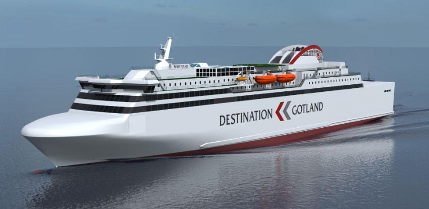 Su�de - Rederi AB valide la construction d�un nouveau ferry GNL