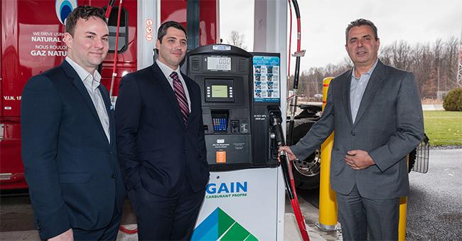 Gain Clean Fuel inaugure sa premi�re station GNV publique au Qu�bec