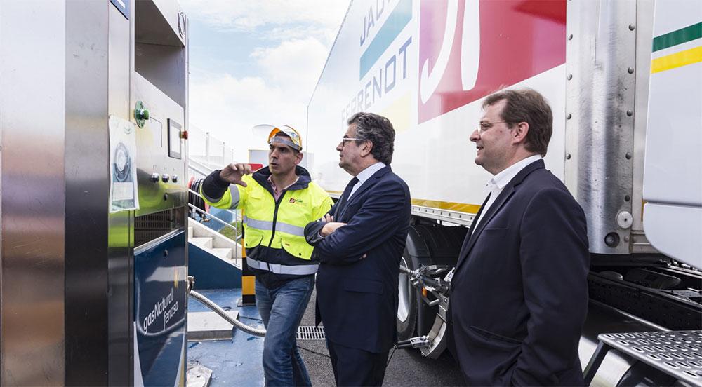 Les élus du Grand Poitiers en visite à la station Gas Natural Fenosa de Migné-Auxances