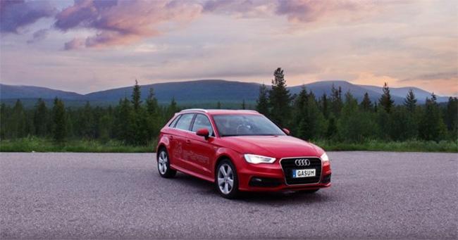 Gasum traverse la Finlande avec une Audi A3 g-tron