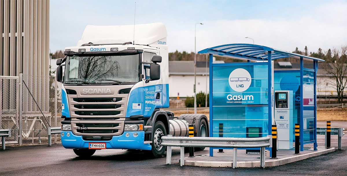 Un réseau Gasum de 50 stations GNL en Finlande, Suède et Norvège