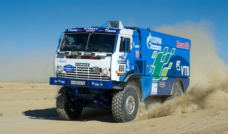 Africa Eco Race � Le camion GNV de Kamaz sur le podium