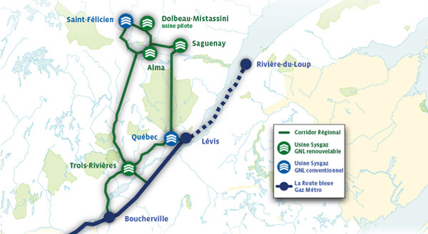 Qu�bec � Sysgaz veut produire du GNL renouvelable pour remplacer le diesel