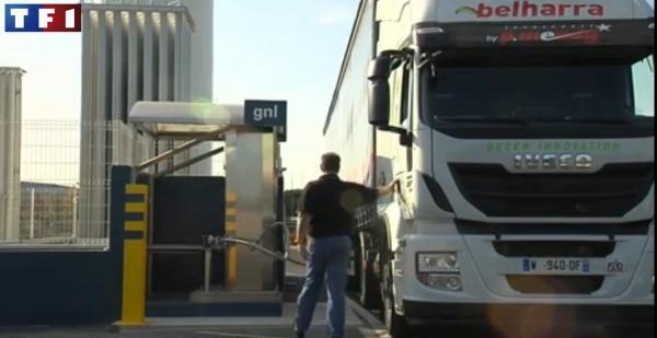 Quand les camions au gaz naturel s'invitent au JT de TF1