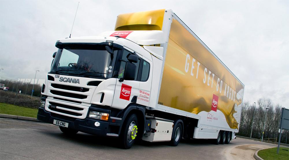 Angleterre – Scania livre son premier camion GNV Euro 6 à Argos
