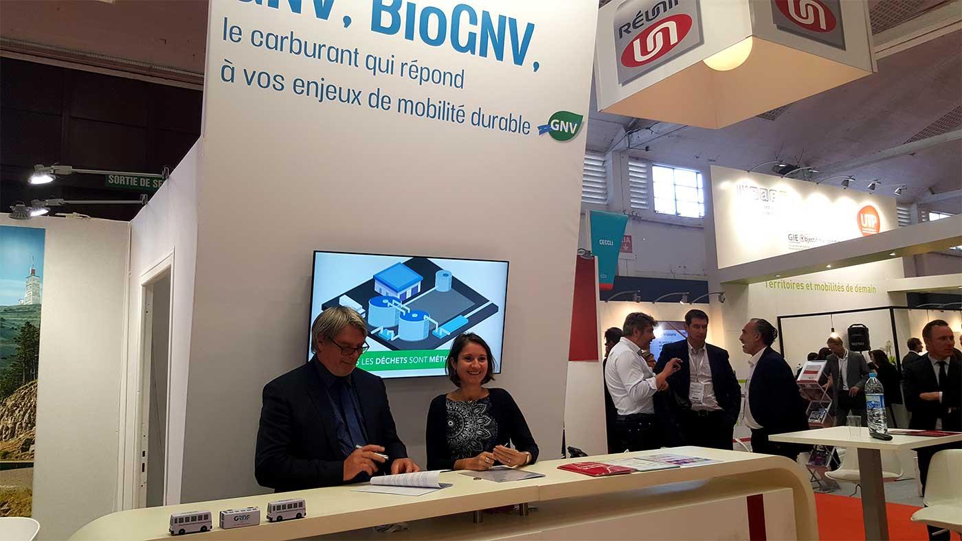 GNV : Via Réunir et GRDF renouvellent leur partenariat aux RNTP