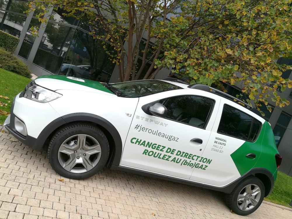 Des Dacia Sandero GNV pour la flotte de GRTgaz