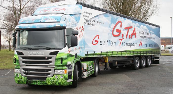 Scania France livre son premier camion GNV Euro 6 � GTA