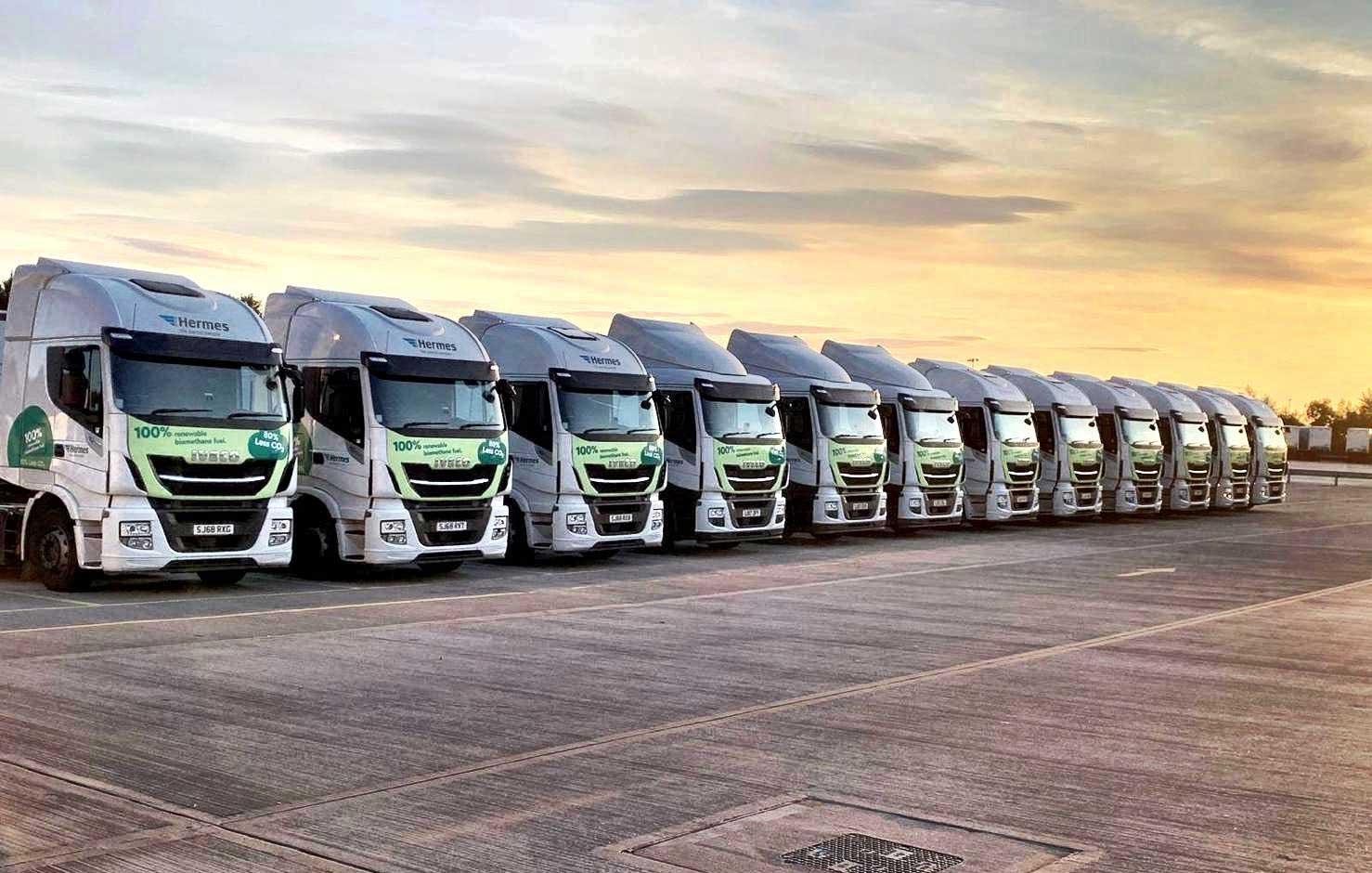 Royaume-Uni : Hermes devient la plus grande flotte GNV de distribution de colis