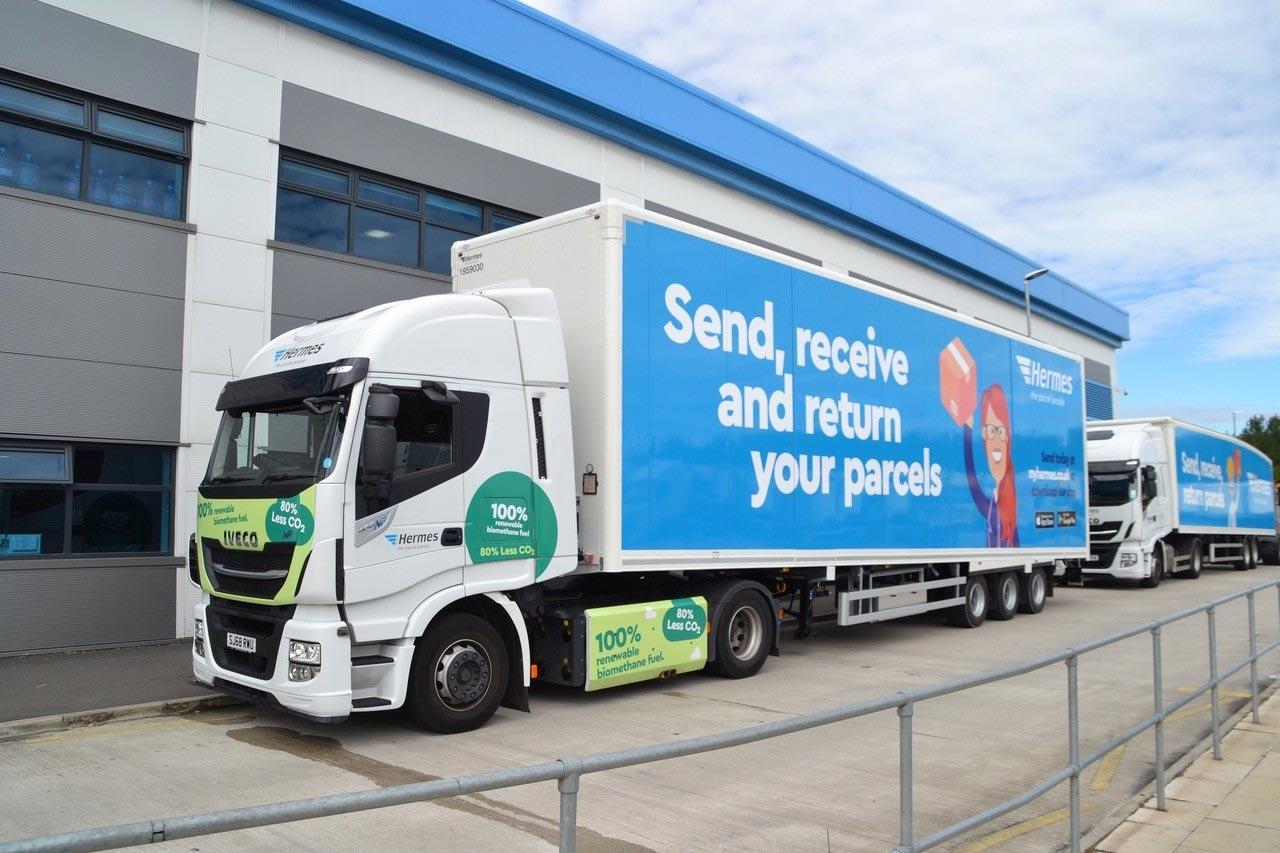 Au Royaume-Uni, Hermes étend sa flotte de camions GNV