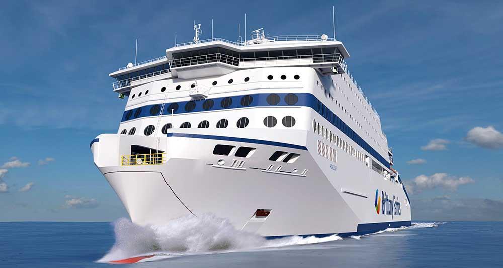 Honfleur : le futur navire GNL de Brittany Ferries mis à l'eau