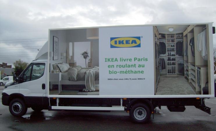 Ikea lance une flotte de camions biom�thane � Paris