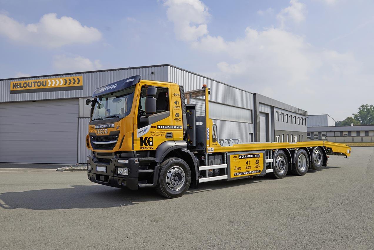 Kiloutou mise sur les camions et utilitaires GNV