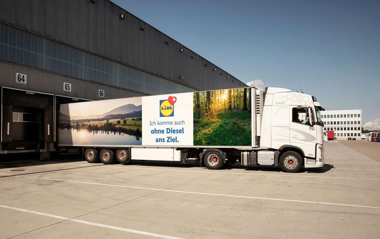 Lidl Suisse met en service ses premiers camions au biogaz