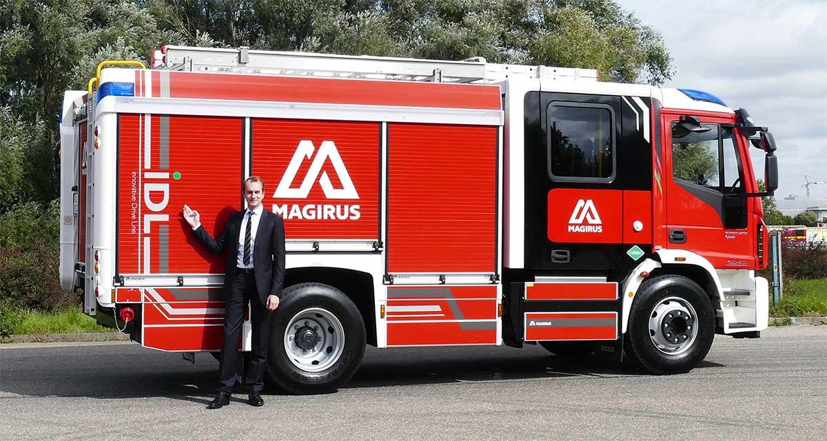 Magirus présente un camion de pompier au GNV