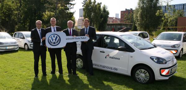 Allemagne - 16 Volkswagen Eco Up! au GNV pour la flotte de Mainova