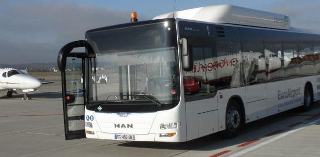 MAN livre un bus GNV � l�a�roport de B�le Mulhouse