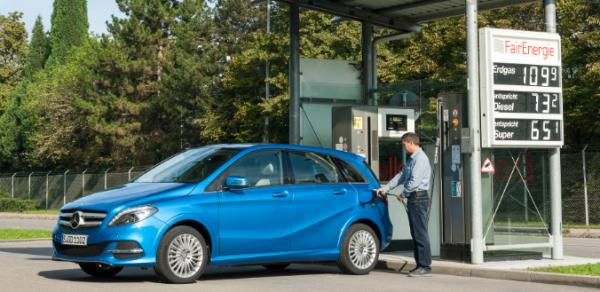Mercedes pr�sente la nouvelle Classe B 200 Natural Gas Drive