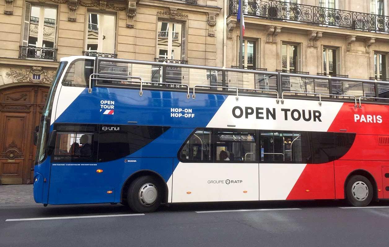 Open Tour Paris lance ses premiers bus touristiques au GNV
