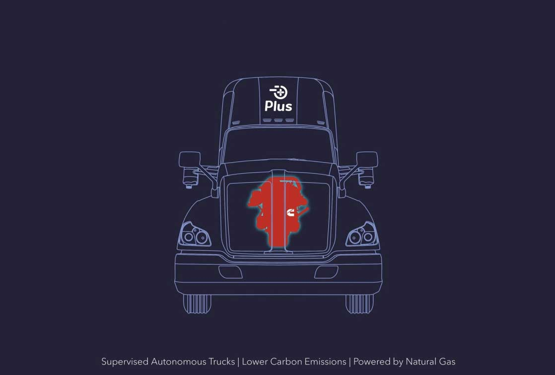 Cummins et Plus développent les premiers camions GNV autonomes