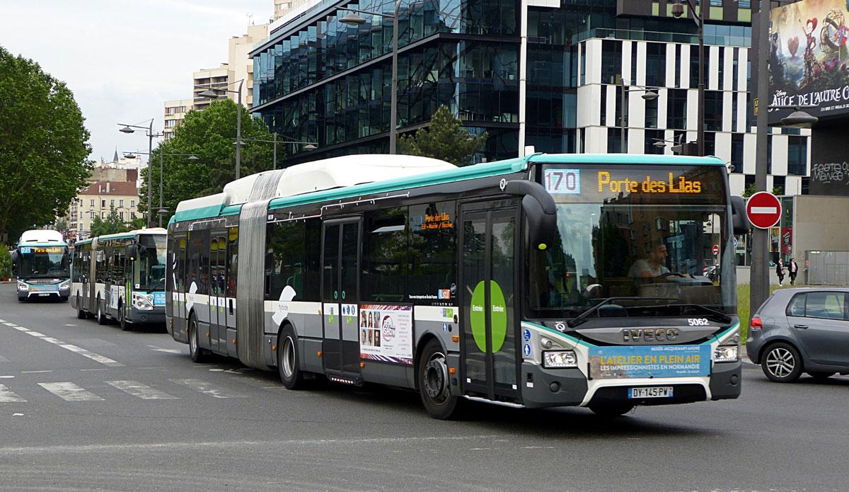 Iveco va fournir 150 bus au gaz naturel à la RATP