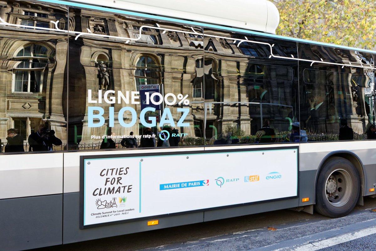 Les bus de la RATP roulent au bioGNV avec Engie