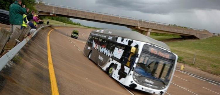 Record de vitesse battu pour le bus au biom�thane de Reading Bus