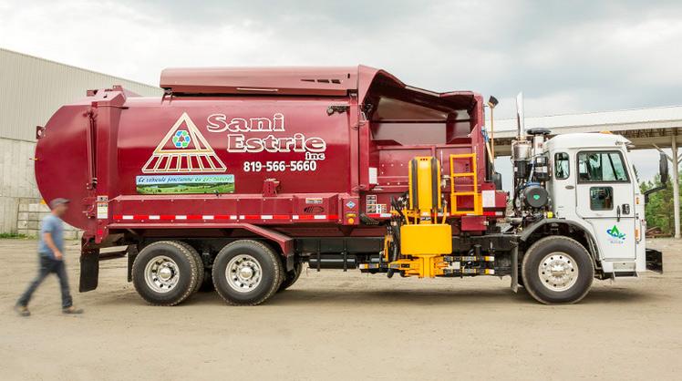 Au Qu�bec, Magog r�colte ses d�chets avec des camions-bennes au gaz naturel