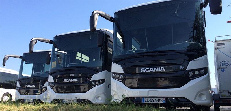 Scania livre ses premiers autocars scolaires GNV en Ile-de-France
