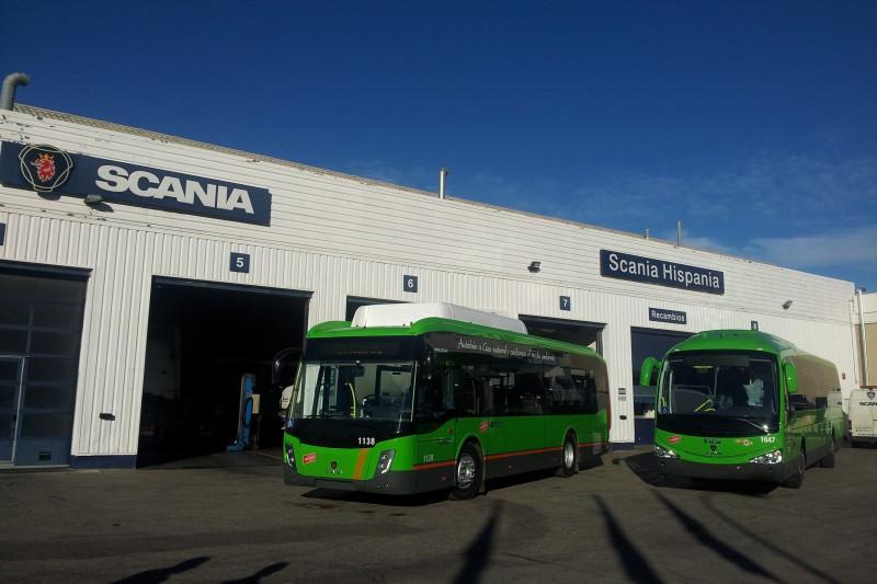 24 bus GNV Scania pour la r�gion de Madrid