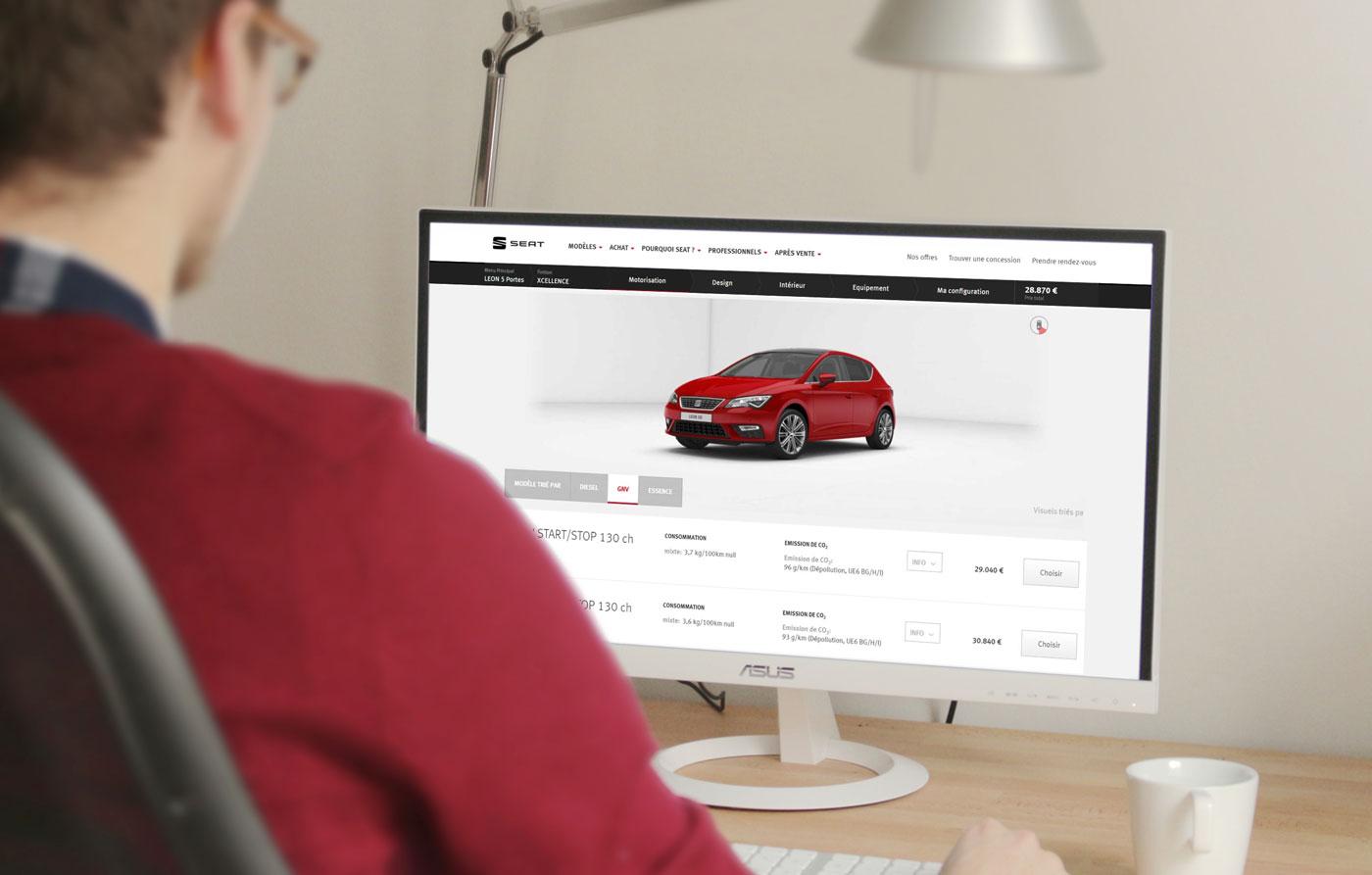 Voiture GNV : la Leon TGI disponible dans le configurateur en ligne de Seat