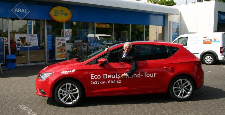 Une Seat Leon GNV parcourt 2633 km avec 86 euros de gaz naturel