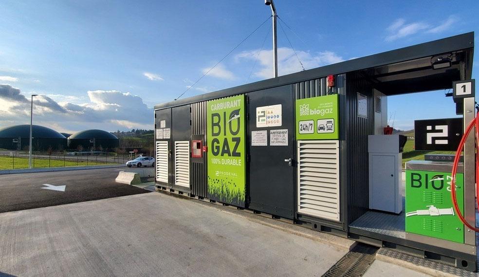 La station bioGNV des Monts du Lyonnais candidate aux Green Solutions Awards