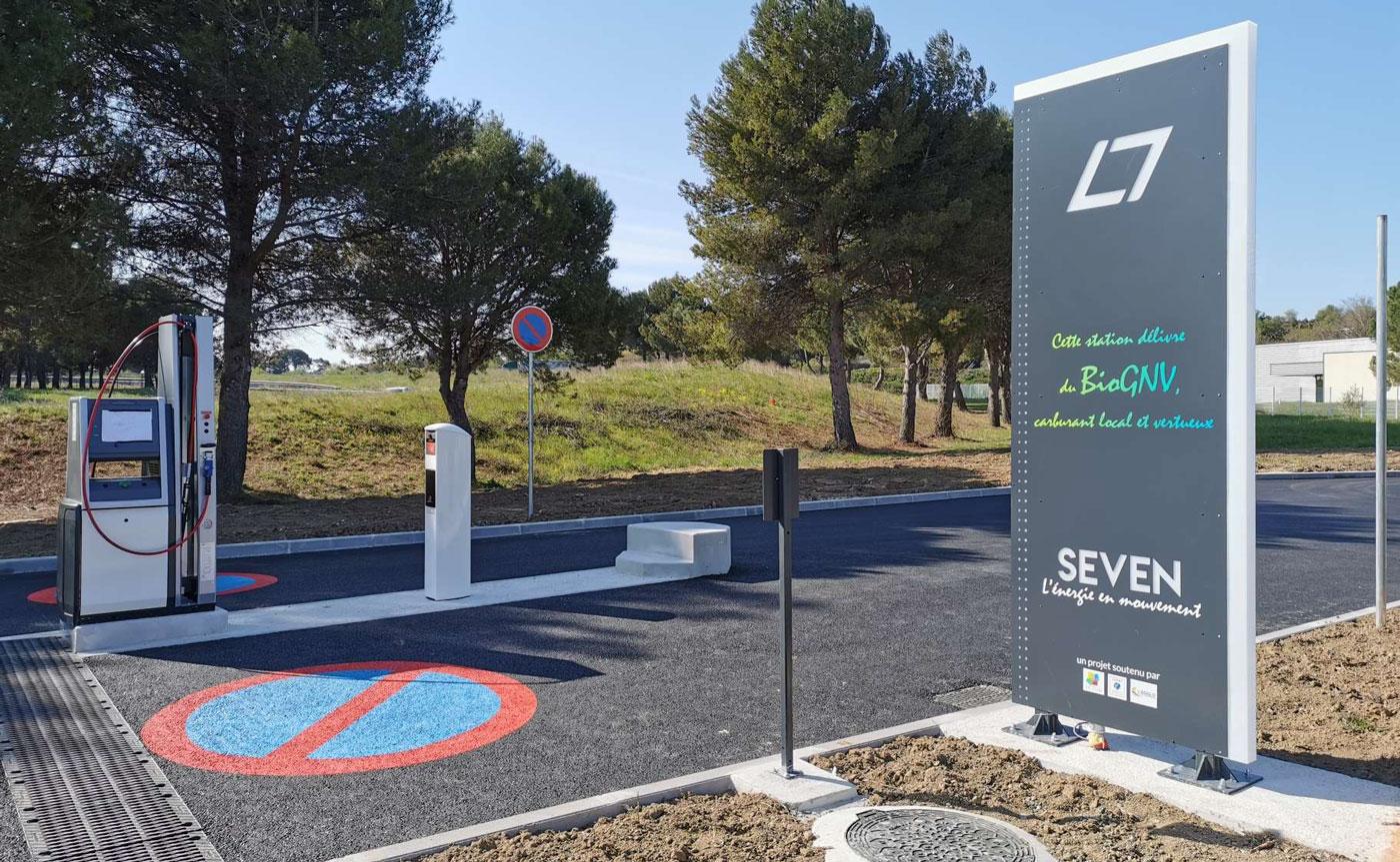 Occitanie : inauguration officielle pour la station BioGNV SEVEN de Pézenas