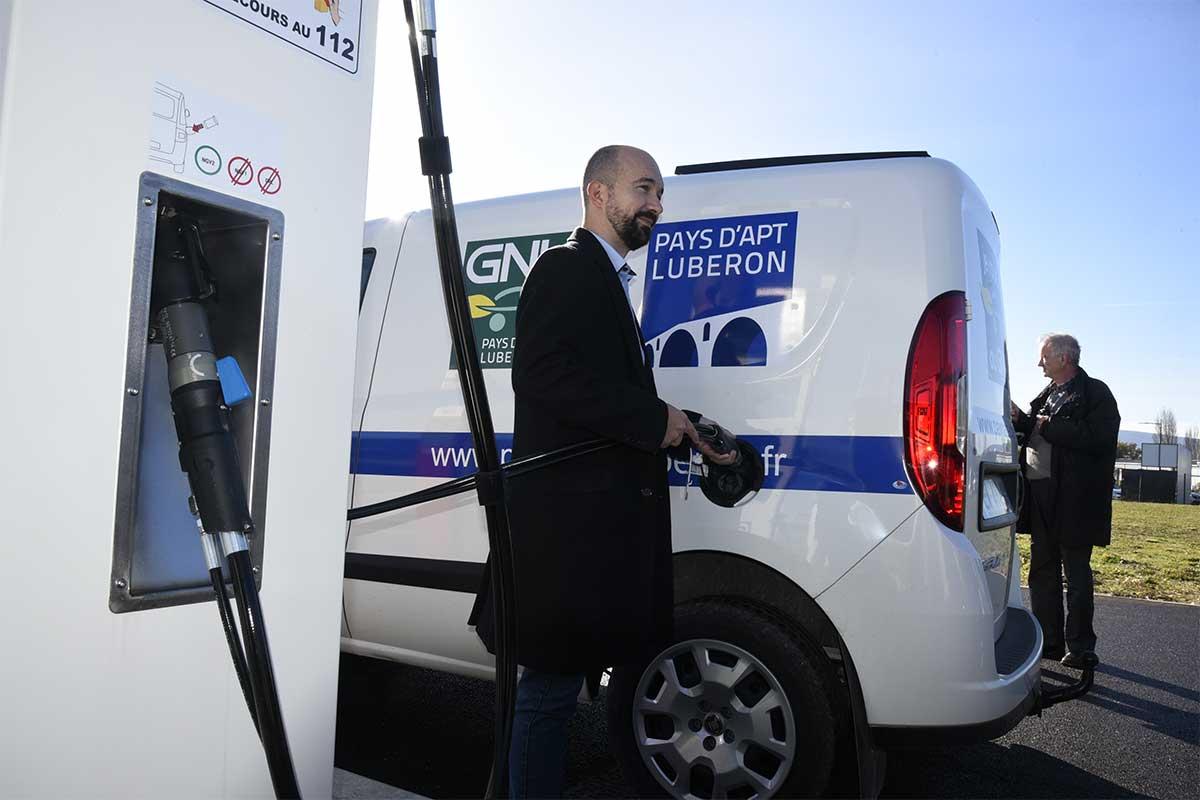 Plein succès pour la station GNV intercommunale du pays d'Apt Luberon