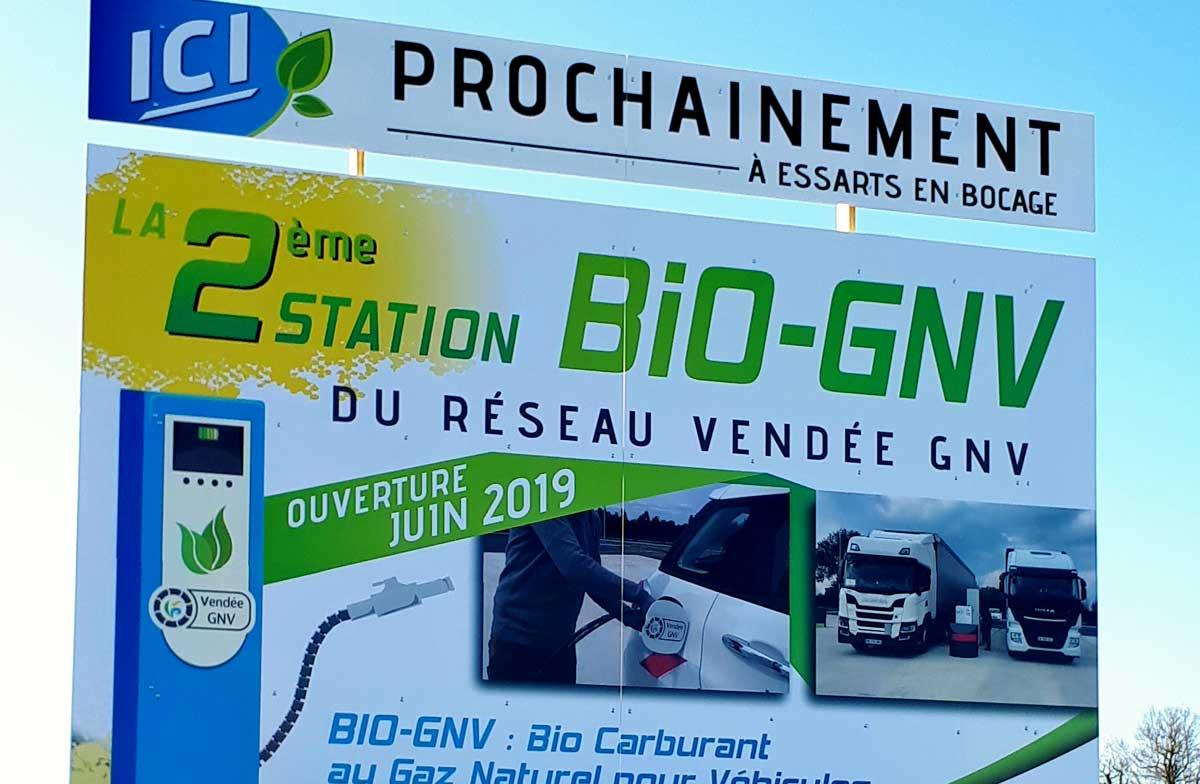 Vendée : début de travaux pour la station GNV des Essarts