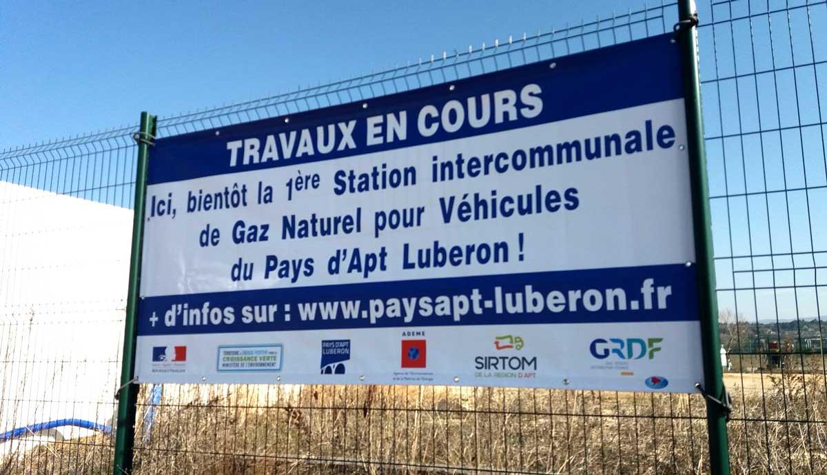 Une station GNV intercommunale pour le Pays d'Apt Luberon