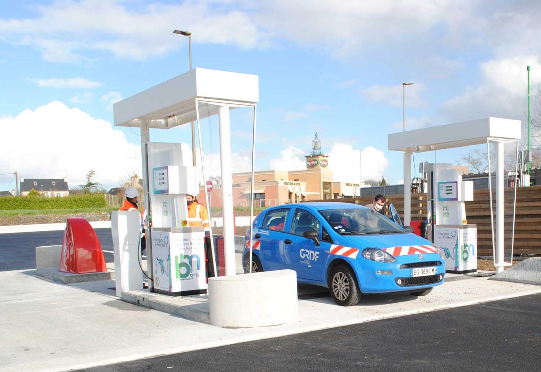Finistère : la station bioGNV de Saint-Martin-des-Champs ouvre ses portes