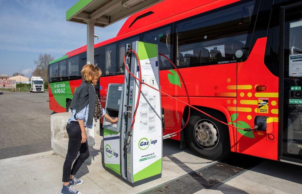 Millau : une station bioGNV pour alimenter les cars de la région Occitanie