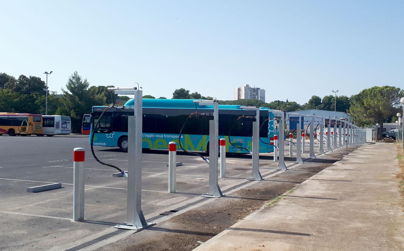 Une station SEVEN pour alimenter les bus au gaz naturel de Béziers
