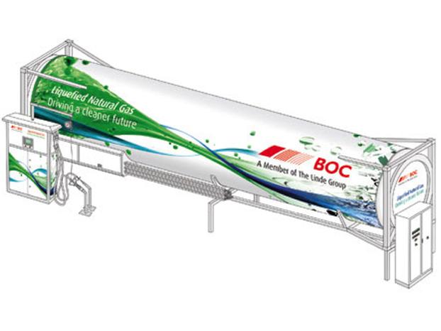 BOC présente une station GNL mobile à Birmingham