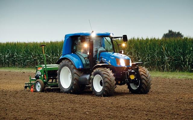 Le tracteur au biom�thane de NewHolland test� en Italie